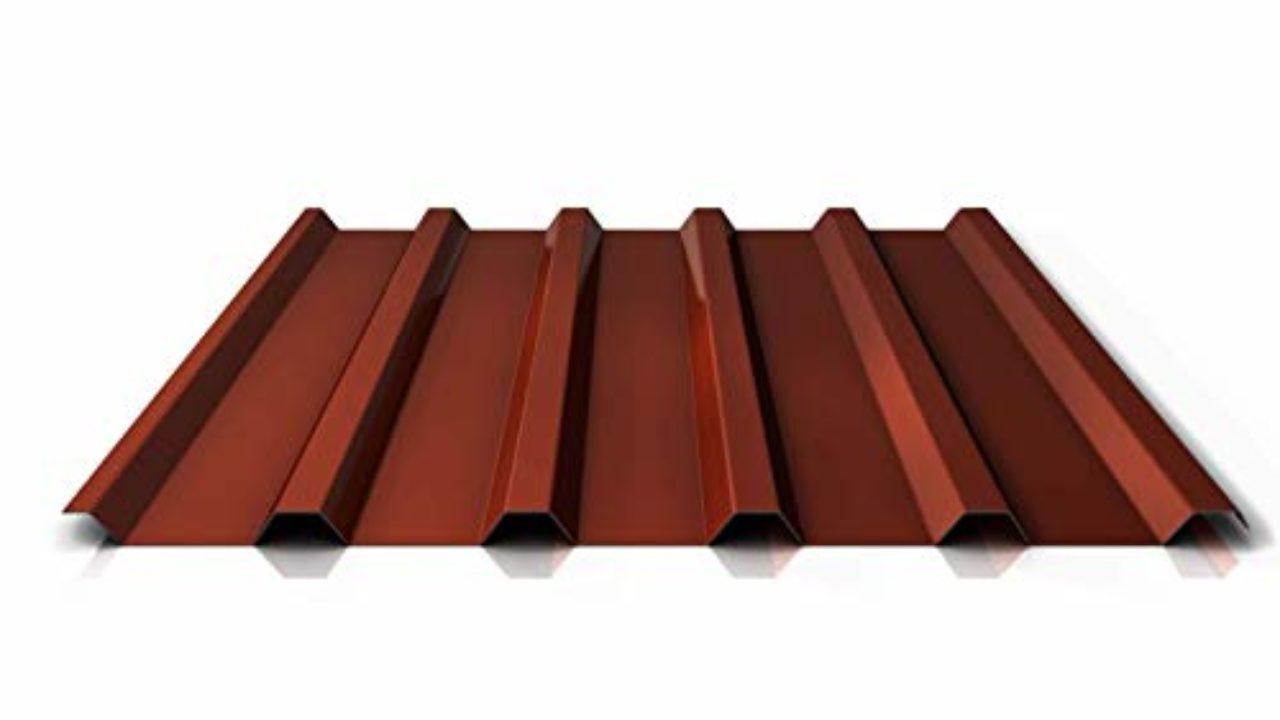 Profilblech Farbe Rotbraun Trapezblech Dachblech Material Aluminium Profil PA35//1035TR Beschichtung 25 /µm St/ärke 0,70 mm
