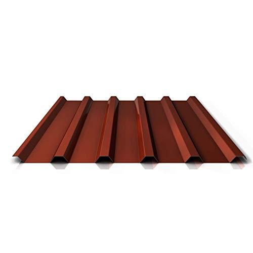Trapezblech | Profilblech | Dachblech | Profil PS35/1035TRA | Material Stahl | Stärke 0,75 mm | Beschichtung 25 µm | Farbe Rotbraun