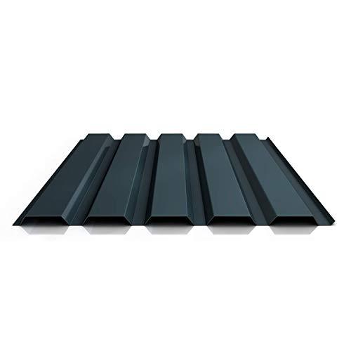 Trapezblech   Profilblech   Wandblech   Profil PA35/1035TW   Material Aluminium   Stärke 0,70 mm   Beschichtung 25 µm   Farbe Anthrazitgrau