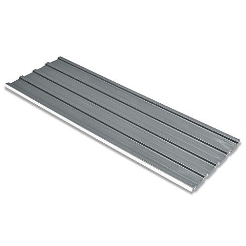 vidaXL 12x Profilblech Grau Trapezblech Blech Dachblech Stahlblech Dachplatten
