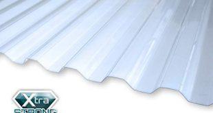 KAISER plastic® Wellplatte Xtra Strong PC glatt und 310x165 - KAISER plastic® Wellplatte | Xtra Strong (PC) | glatt und klar | Trapez 76/18-1mm Stärke | 90 x 120 cm | 1 Stk. | Made In Germany