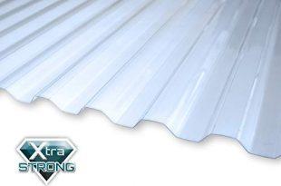 KAISER plastic® Wellplatte | Xtra Strong (PC) | glatt und klar | Trapez 76/18-1mm Stärke | 90 x 120 cm | 1 Stk. | Made In Germany